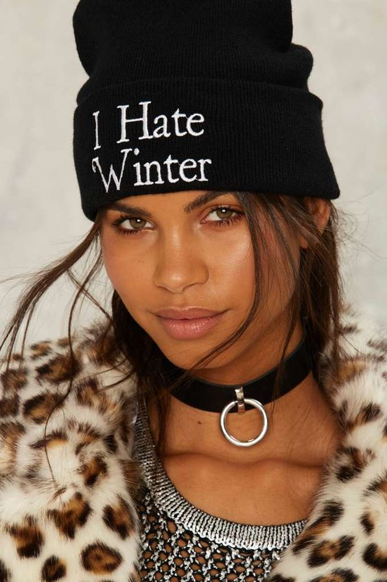 I hate winter beanie - I need this hat!