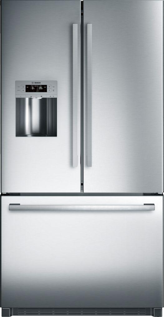 36 Freestanding Standard Depth French Door Refrigerator B26ft50sns Stainless Steel Bosch Refrigerator French Door Refrigerator French Door Bottom Freezer
