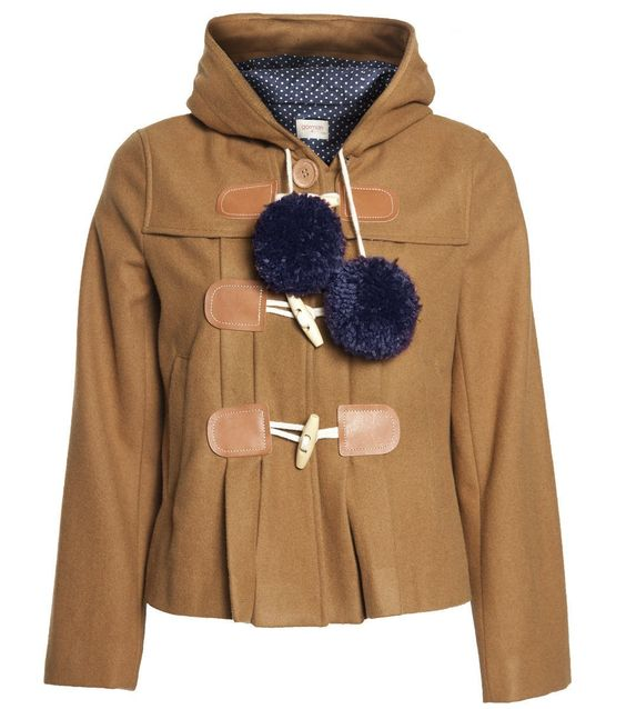 Duffle jacket with pom poms - what's not to love?! Charlotte