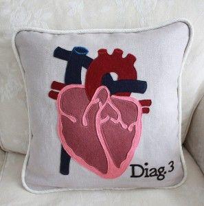 Diagram Pillow - Heart