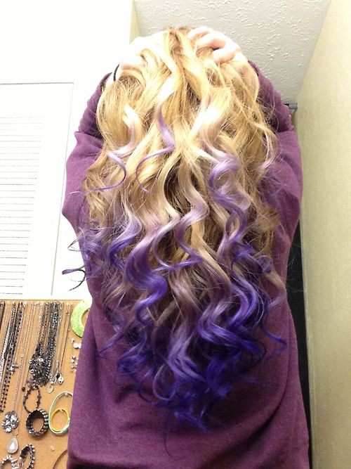 violet to pink ombre blonde hair - Google Search