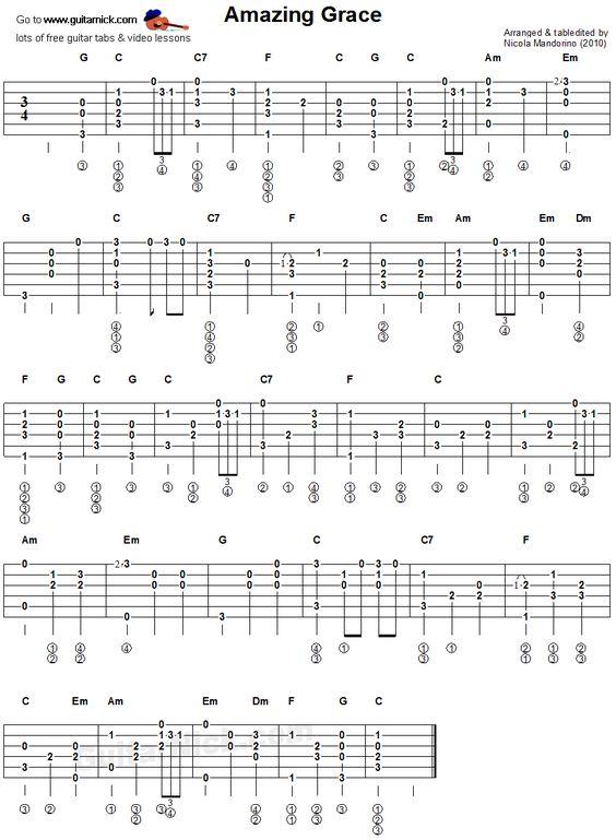 Guitar guitar tabs amazing grace : Pinterest • The world's catalog of ideas