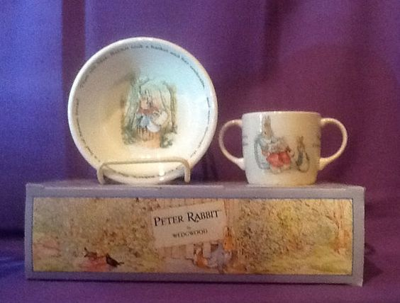 Wedgwood Peter Rabbit Child Set Original by TheLavenderPathHome