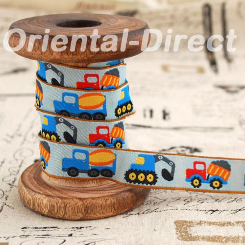 1-Metre-Embroidery-Woven-Ribbon-Trim-Russian-Doll-Owl-Bird-Deer-Cupcake-Car-Fish