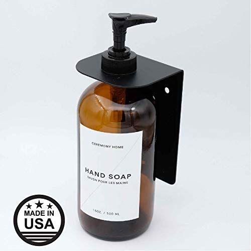 Amazon Com Ceremony Home Black Wall Mount Hand Soap Dispenser