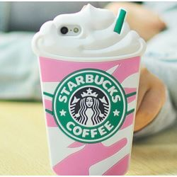 "Starbucks Glace 3D Coque souple en Silicone, rose, Iphone 6 (4.7"")"