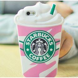 "Starbucks Glace 3D Coque souple en Silicone, rose, Iphone 6 (4.7"")"