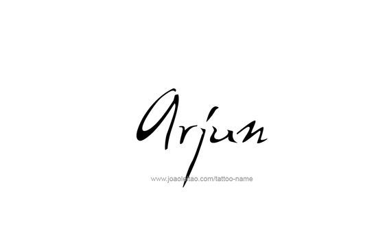 Arjun Name Tattoo Designs With Images Name Tattoo Designs