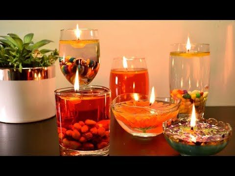 Water Candles Diwali And Christmas Decoration Ideas Floating Candles For Christmas Trending Diy Yout Water Candle Diy Floating Candles Water Candles Diy
