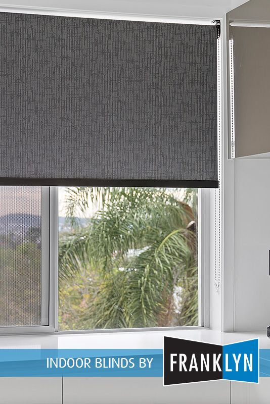 Roller Blinds By Franklyn With Black Bottom Rail Indoor Blinds Blinds Roller Blinds