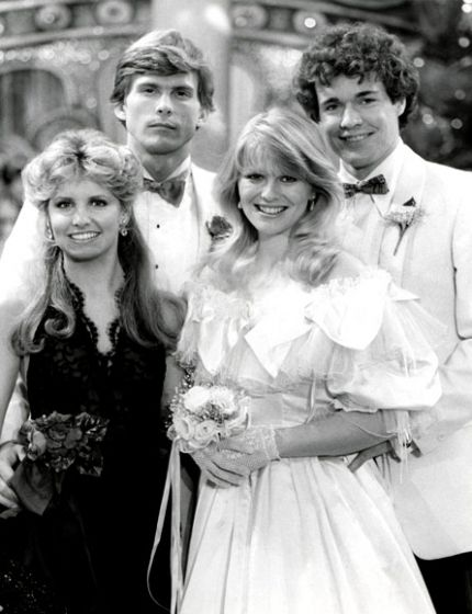 The Four Musketeers    Pam Long became the head writer in 1983 and focused her storytelling on the younger generation, including BFF teens Phillip Spaulding (Grant Aleksander), Rick Bauer (Michael O'Leary), Mindy Lewis (Krista Tesreau), and Judi Evans (Beth Raines).