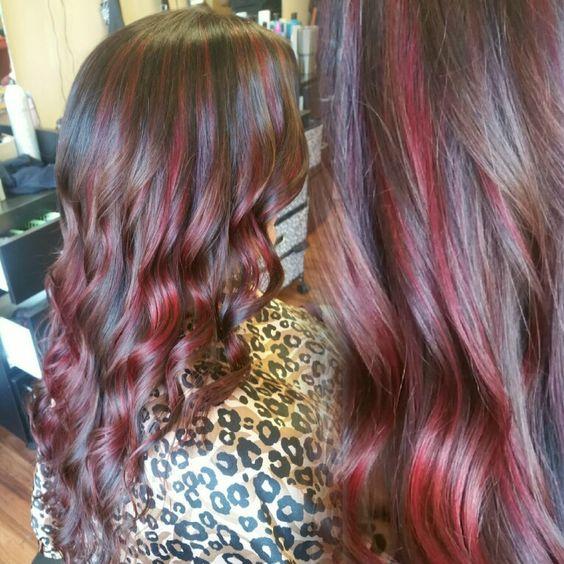 Hair Color Dark With Light Highlights