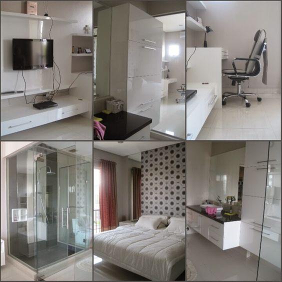 ARADES LIVING - FURNITURE & INTERIOR: Interior Kamar Tidur Utama Rumah Tinggal di Puri M...