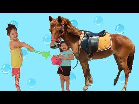 Elif Oyku And Masal Made A Horse Fun Kid Video Little Kids Riding A Horse Youtube Galeri Instagram Tig Isleri