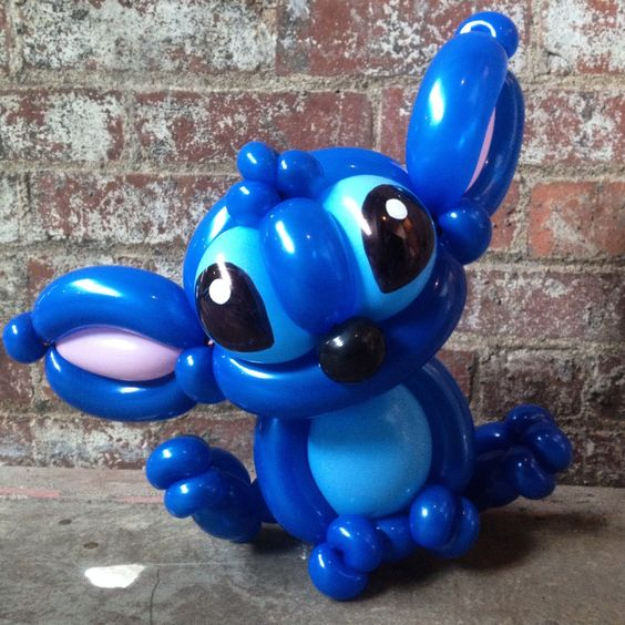 Day 233: #Stitch (aka. Experiment 626) #LiloandStitch #BalloonAnimals #Disney