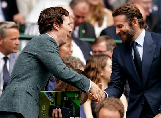 Benedict Cumberbatch and Bradley Cooper, Wimbledon Men's Finals, July 10, 2016.