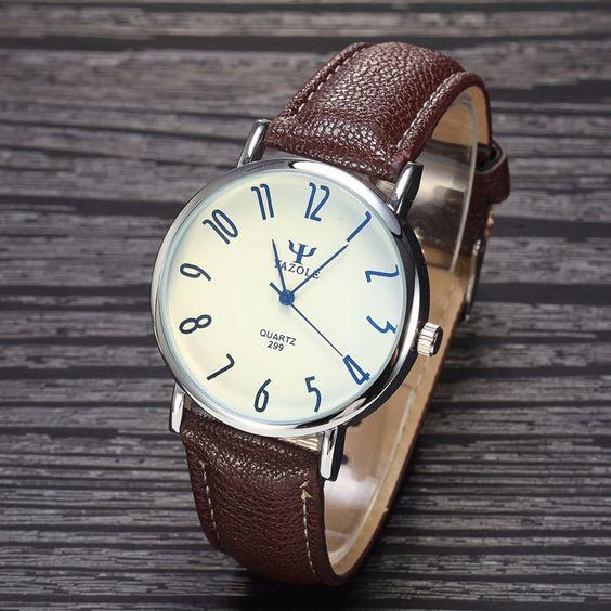 YAZOLE Brand Business Watch New Fashion 2015 Men PU Leather Quartz Watch Luxury Casual Wristwatch Relogio Masculino Clock   http://www.dealofthedaytips.com/products/yazole-brand-business-watch-new-fashion-2015-men-pu-leather-quartz-watch-luxury-casual-wristwatch-relogio-masculino-clock/