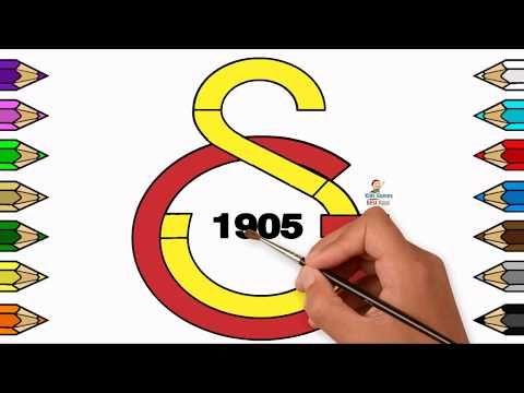 Galatasaray Drawing Coloring Page Learn To Color For Kids Youtube