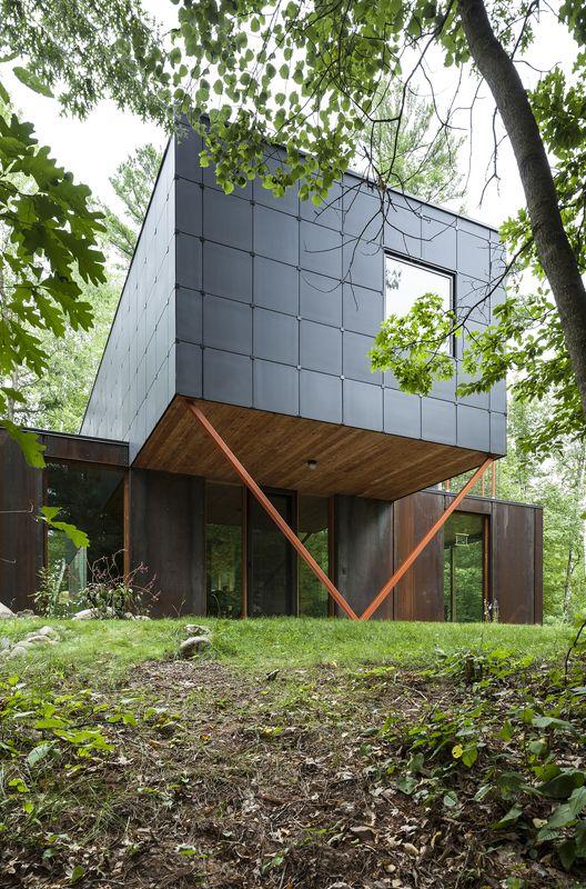 Retiro Two Bear / Edward M. Doyle (Two Bear Lake, Rusk, WI 54895, EUA) #architecture