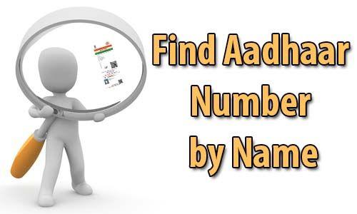 Find Aadhaar Card Number By Name Names Cards Numbers