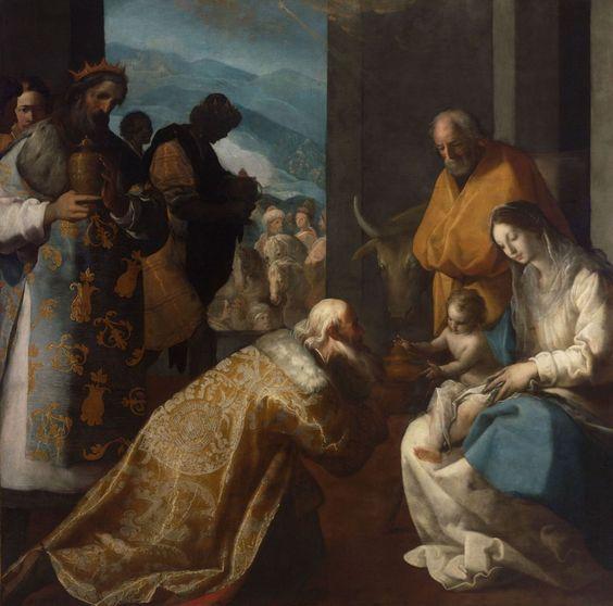 The Adoration of the Magi / La Adoración de los Reyes Magos // ca. 1610 // Eugenio Cajés // © Museum of Fine Arts, Budapest // #Jesus #Christ #Epiphany