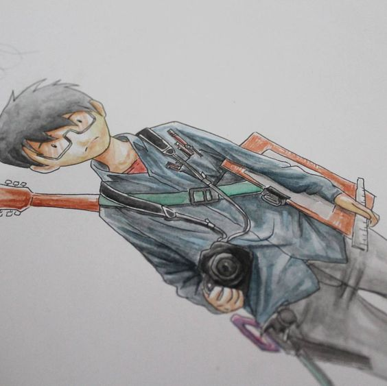 Wip -long way- For all student . #illustration #watercolor on paper #unismuh_arts #rahmanbisa #anime #manga