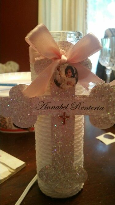 Baptism centerpieces dyi pinterest birthdays