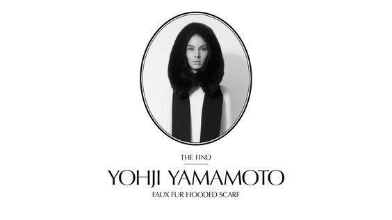 RESEE Week's Find 12th February Yohji Yamamoto Faux Fur Hooded Scarf http://www.resee.fr/yohji-yamamoto/faux-fur-hooded-scarf.html