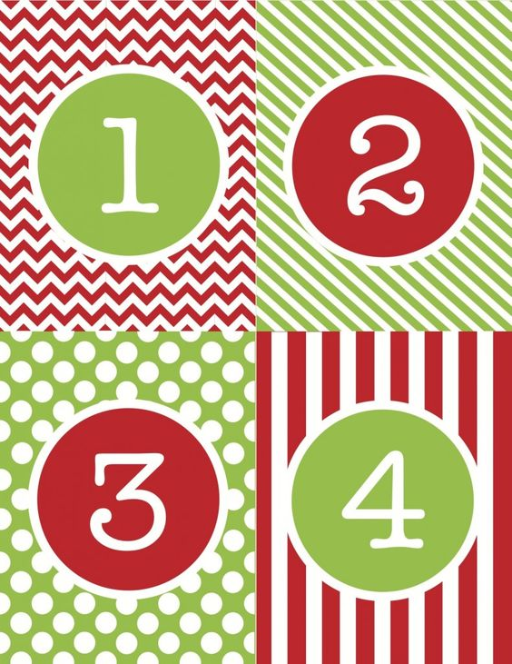 Advent Calendar Number Printables | Christmas!! | Pinterest ...