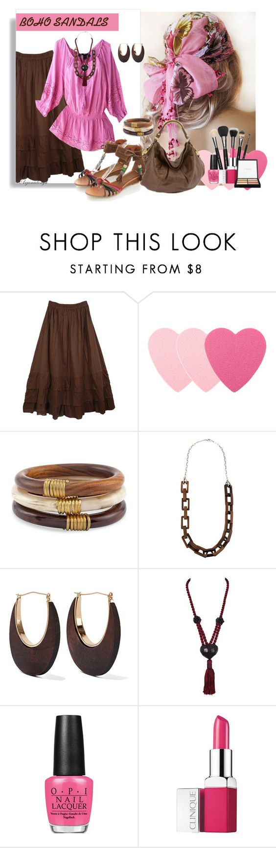 """BOHEMIAN SANDALS"" by arjanadesign ❤ liked on Polyvore featuring Sephora Collection, Chico's, Michael Kors, Kenneth Jay Lane, Yves Saint Laurent, OPI and Clinique"