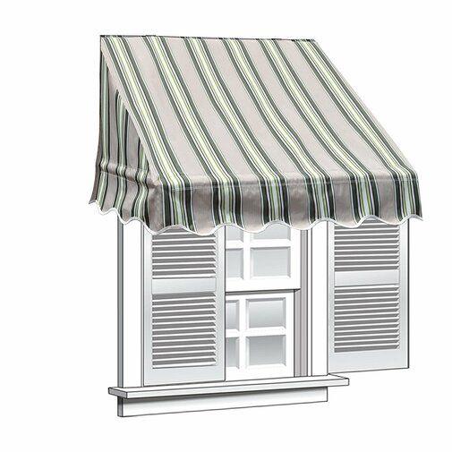 Aleko 6 Ft W X 2 Ft D Window Awning Reviews Wayfair Window Awnings Door Canopy Windows And Doors
