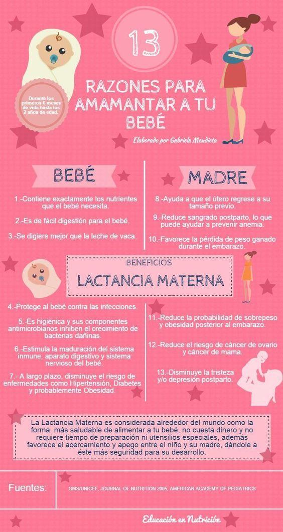 13 razones para amamantar a tu bebé