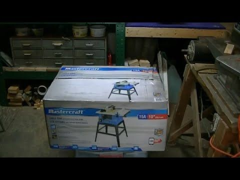 Mastercraft 10 Inch Table Saw Unboxing 10 Inch Table Saw Mastercraft Table Saw