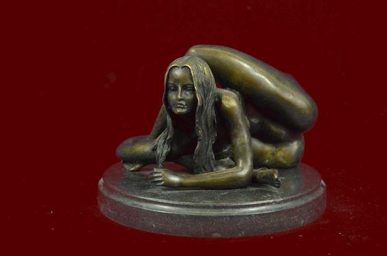 Unique Bronze Marble Statue Sensual Erotic Nude Girl Yoga Exercise Sculpture Art - http://art.goshoppins.com/sculpture/unique-bronze-marble-statue-sensual-erotic-nude-girl-yoga-exercise-sculpture-art/
