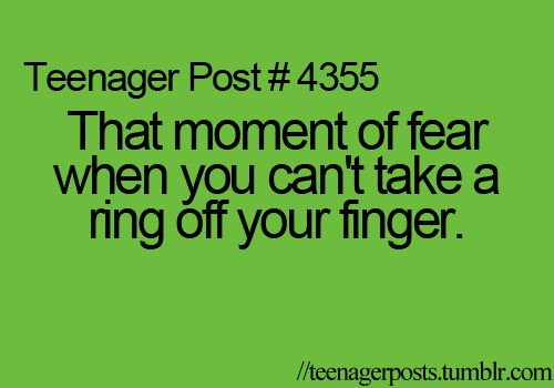 Definitely freaked out when this happened to me with my sister's engagement ring lol