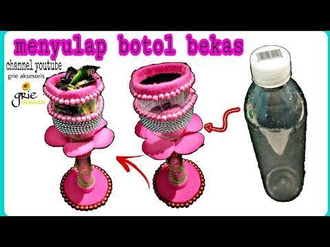 Cara Mudah Membuat Gelas Cantik Dari Botol Bekas Dan Kain Flanel Kreasi Botol Bekas Youtube Gelas Kain Flanel Botol