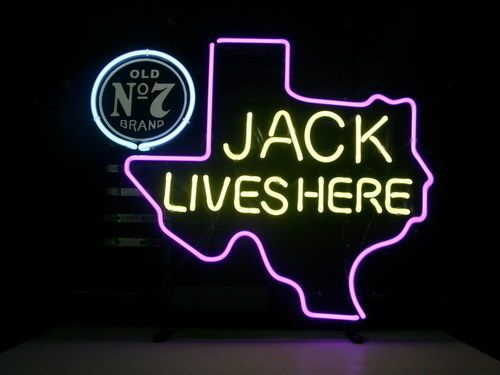 Jack Daniels Texas State Classic Neon Light Sign 18 x 15