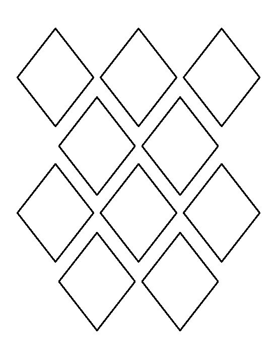 3 inch triangle pattern. Use the printable outline for crafts ...