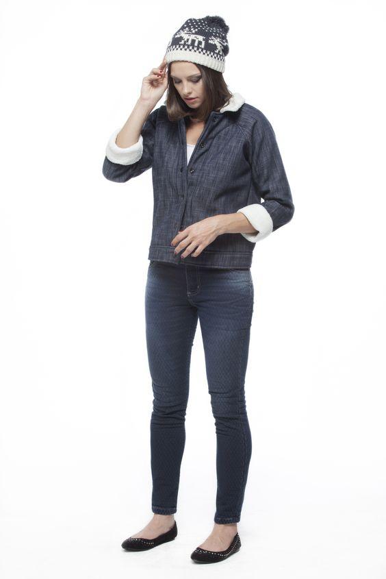 Jaqueta - Pele Bonded Denim / Calça - Índigo Jacquard Navette Blue 10,4 oz #PELES #dublados #denim #JEANSWEAR #indigos #jacquard #matelasse #FocusonJeans® #FocusTextil