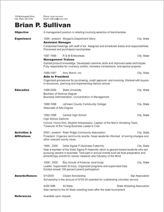 chronological resume sample httpjobresumesamplecom1310chronological resume sample job resume samples pinterest sample resume cover letter