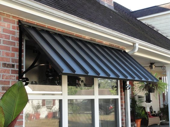 metal awnings porch | Patio Center can design any shape & size standing seam awning needed ...