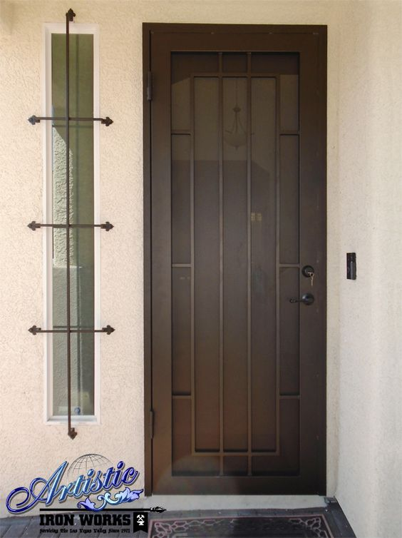 Wrought iron security screen door sd0271 wrought iron for Residential security doors