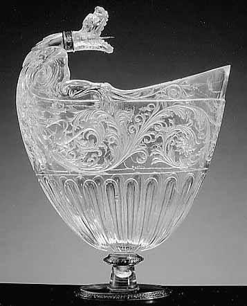 Aiguière en cristal de roche, entrée dans la collection de Louis XIV entre 1681 et 1684 - Atelier des Miseroni (?), Milan, troisième quart du XVIe siècle – Paris, Musée du Louvre: