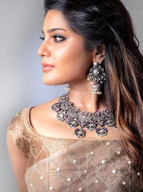 Buy Amrapali Silver Jewellery, Handmade and Indian Jaipur Designer Silver  Style Oxidised Jewellery Online … | Silver fashion, Saree designs, Silver  jewellery indian