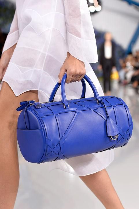 Come see the biggest fashion trends of 2016, including bright, colored bags (*HI* bright blue Dior duffel!)