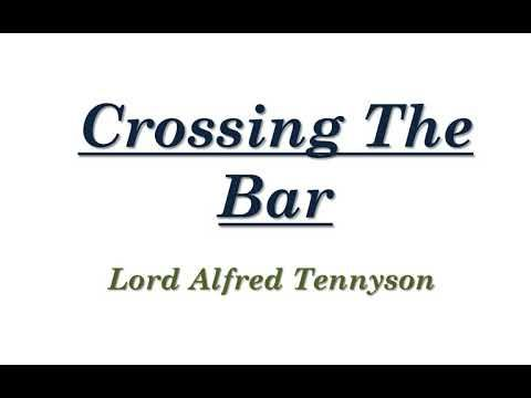 Crossing The Bar By Lord Alfred Tennyson Poem Explanation In Tamil Youtube 2020 Paraphrase Analysi Meaning