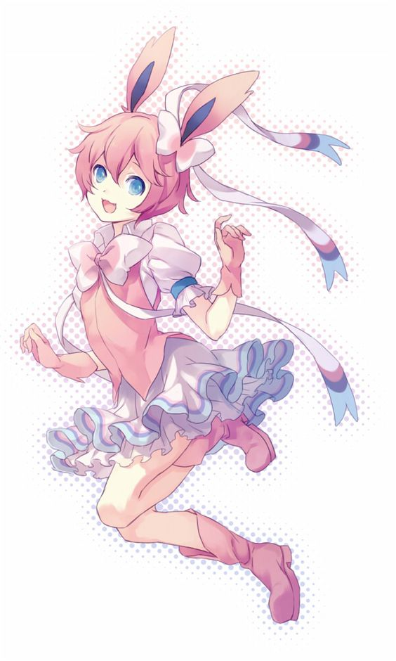 human version gijinka pokemon, sylveon: