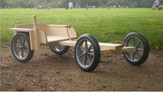 Wooden Go Kart | Kombi Kart - For Outdoors