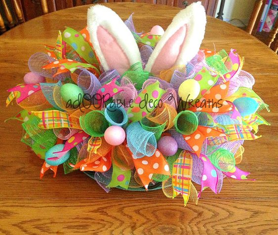 Easter Table Centerpiece by aDOORableDecoWreaths on Etsy: