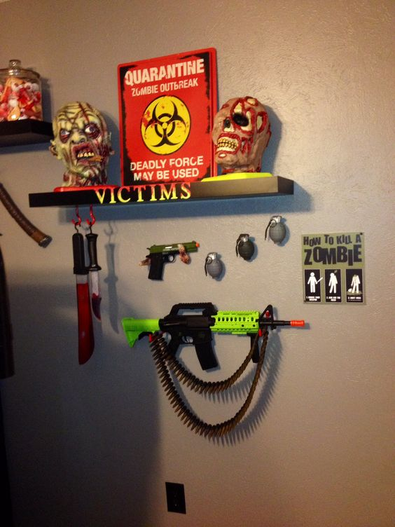Rooms for kids zombies and for kids on pinterest for Zombie room decor